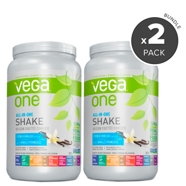 Vega One All-In-One French Vanilla Nutritional Shake 2 Pack Bundle