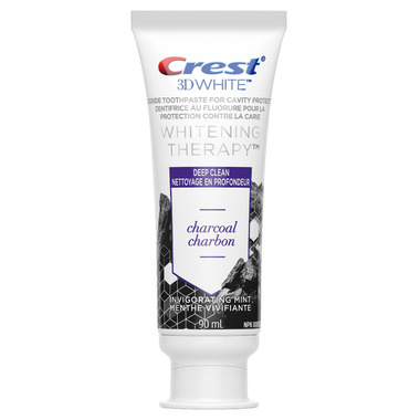 Crest 3D White Whitening Therapy Charcoal Deep Clean Fluoride Toothpaste