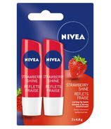 Nivea Strawberry Shine Tinted Caring Lip Balm Sticks