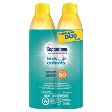 Coppertone Kids Sunscreen Continuous Spray SPF 50 Duo Pack