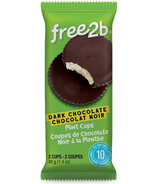 Free2b Sun Cups Mint Coated in Dark Chocolate