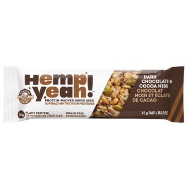 Manitoba Harvest Hemp Yeah! Dark Chocolate & Cocoa Nibs Bar