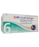 BD Ultra-Fine 1.0ML 31G 6MM Syringe