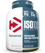 Dymatize Nutrition ISO100 Hydrolyzed Whey Protein Birthday Cake 5 lbs