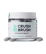 Nelson Naturals Crush and Brush Mint Charcoal Glass Jar