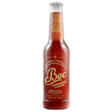 Bec Organic Maple Syrup Soda Cranberry