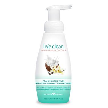Live Clean Vanilla Bean & Coconut Foaming Hand Wash