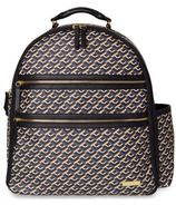 Skip Hop Deco Saffiano Diaper Backpack Black