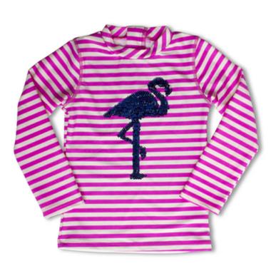 Shade Critters Rashguard Magic Sequin Flamingo