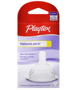 Playtex Y-Cut Natural Latch Silicone Nipples