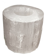 Ecoideas Selenite Tea Light Candle Holder
