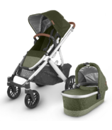 UPPAbaby VISTA V2 Stroller Hazel Olive Silver Saddle Leather