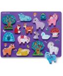 Crocodile Creek Let's Play 16 Piece Wood Puzzle Unicorn Garden