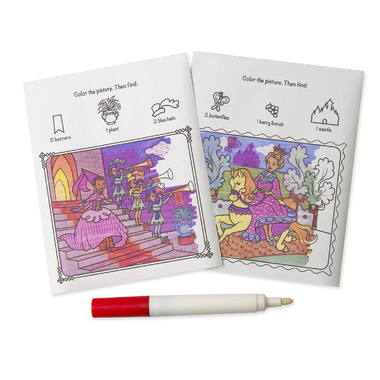 Melissa & Doug Color Blast! Princess Book On-The-Go