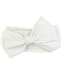 Baby Wisp Giant Lana Bow Headband White