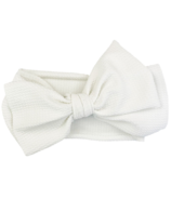 Baby Wisp Giant Lana Bow Headband White