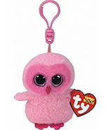 Ty Beanie Boo's Twiggy the Pink Owl Clip
