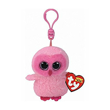 Ty Beanie Boo\'s Twiggy the Pink Owl Clip