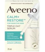 Aveeno Calm+Restore Sérum triple avoine pour le visage, peau sèche et sensible