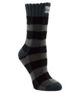 Pudus Women's Short Boot Socks Lumberjack Grey