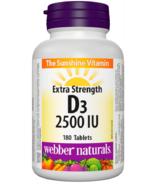 Webber Naturals Vitamine D3 2,500 IU Extra Fort