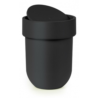 Umbra Touch Waste Can With Lid Black