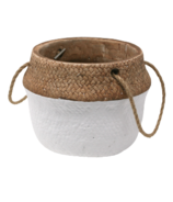 Natural Living Cement Basket Planter
