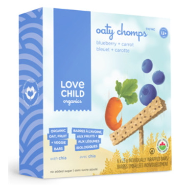Love Child Organics Blueberry & Carrot Oaty Chomps