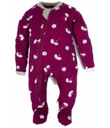 ZippyJamz Footed Sleeper Cotton Berry Bliss