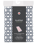 Kushies Flannel Change Pad Fitted Sheet Octagon Navy