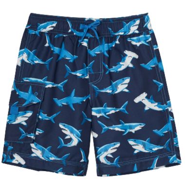 Hatley Deep Sea Sharks Swim Trunks