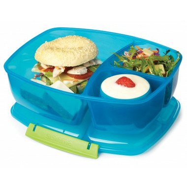 Sistema Triple Split with Yogurt Pot Blue