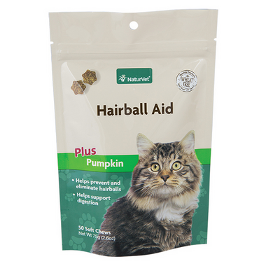 Naturvet Natural Hairball Aid Supplement Plus Pumpkin