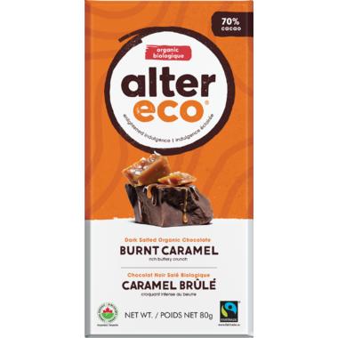 Alter Eco Dark Salted Organic Chocolate Burnt Caramel