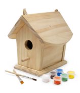 Kinderfeets Birdhouse with Paint and Brushes
