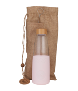 SoL Cups Glass Water Bottle Perfect Pink