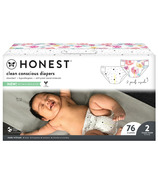The Honest Company Diapers Club Box Young At Heart + Rose Blossom Size 2