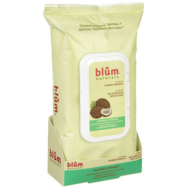 Blum Naturals Daily Cleansing & Makeup Remover Towelettes Soothing