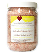 Heartfelt Living Himalayan Crystal Bath Salts Lemongrass