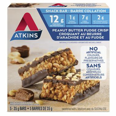 Atkins Snack Bars Peanut Butter Fudge Crisp 5-Pack