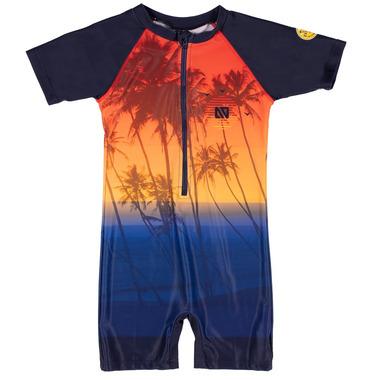 nano One Piece Rashgurd Navy Swimsuit