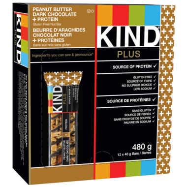 KIND Plus Peanut Butter & Dark Chocolate + Protein Bars