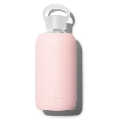 bkr Pout Glass Water Bottle Opaque Light Pink