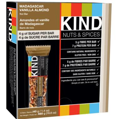 KIND Madagascar Vanilla Almond Bars