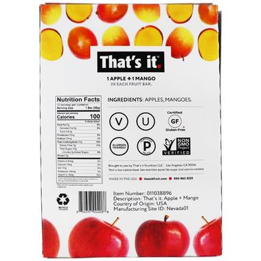 That\'s it. 1 Apple + 1 Mango Fruit Bar