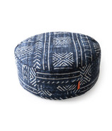 Halfmoon Home Meditation Cushion Indigo Mudcloth