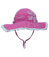 Calikids Bucket Hat with Flower Azalea Pink