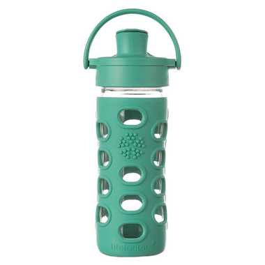 Lifefactory Glass Bottle with Active Flip Cap & Kale Sleeve