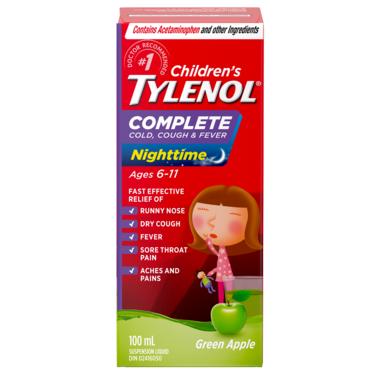 Tylenol Children\'s Complete Cold, Cough & Fever Nighttime Suspension Liquid