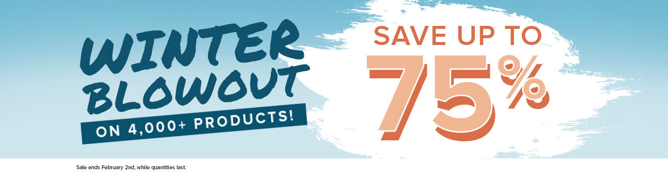 Save up to 75% on Winter Blowout